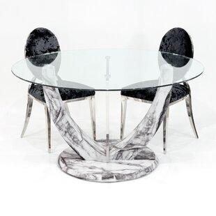 Kipp Circular Dining Set With 2 Chairs By Metro Lane