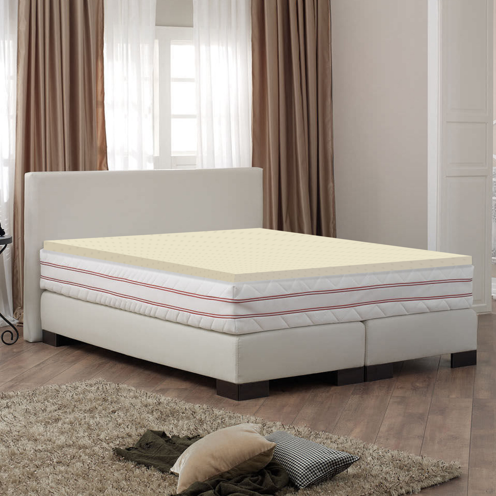 Spinal Solution 2 Memory Foam Mattress Topper Wayfair