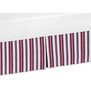 Online Reviews Nautical Nights Stripe Crib Skirt BySweet Jojo Designs