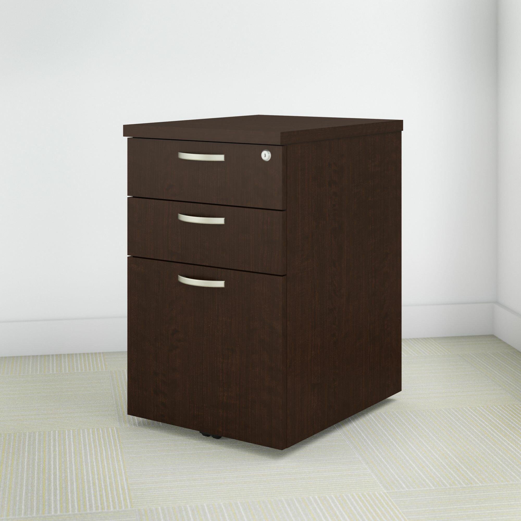 Bush Business Furniture Easy Office 3 Drawer Mobile Vertical Filing Cabinet Reviews Wayfair