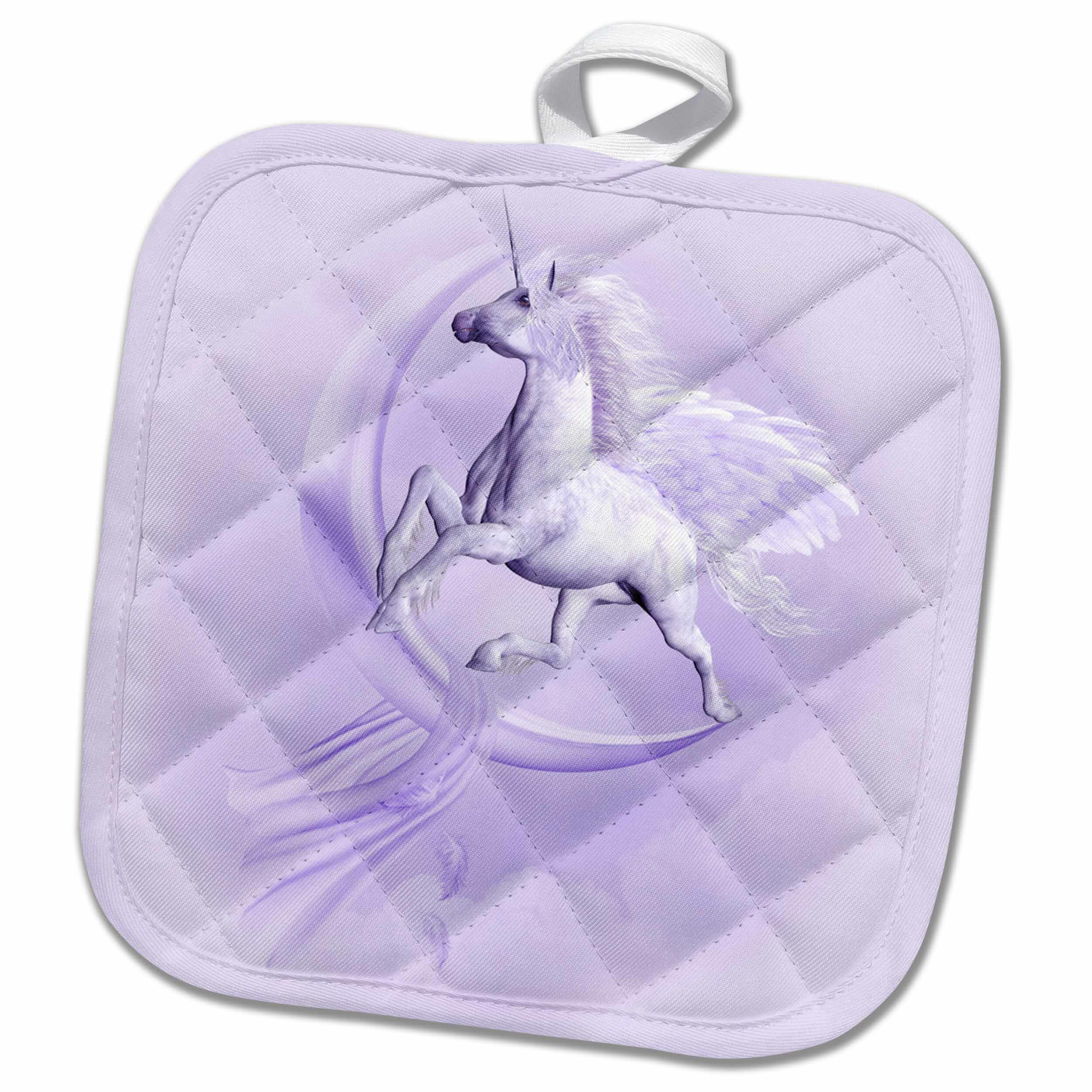 3drose A Flying Pegasus With A Moon And Clouds In The Background Potholder Wayfair