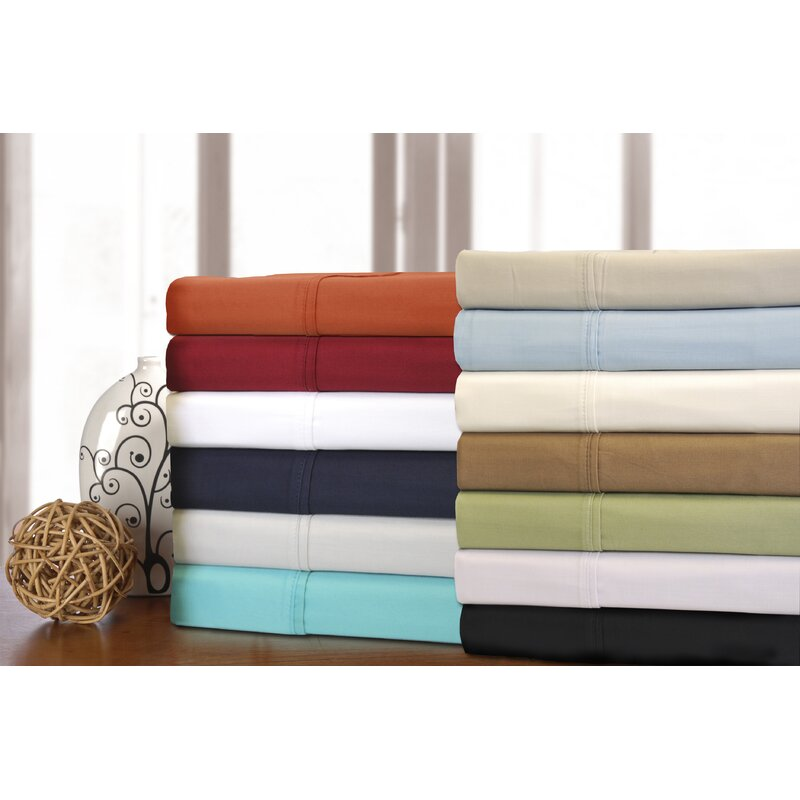 Patric 300 Thread Count Solid Color 100 Egyptian Quality Cotton Sheet Set