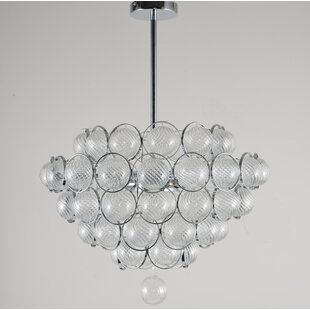 Glass ball chandelier wayfair pitcock ball 6 light mini chandelier mozeypictures Images