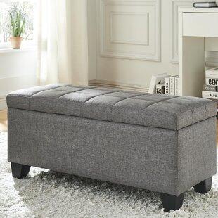 Ebern Designs Pimentel Fabric Storage Ottoman