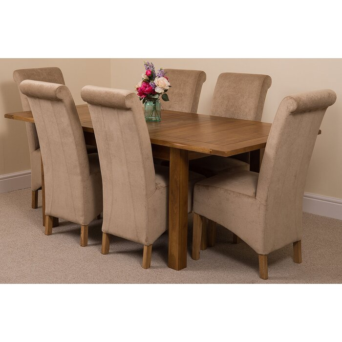 Surprising Monroeville Solid Oak Dining Table With 6 Montana Chairs Home Interior And Landscaping Ologienasavecom