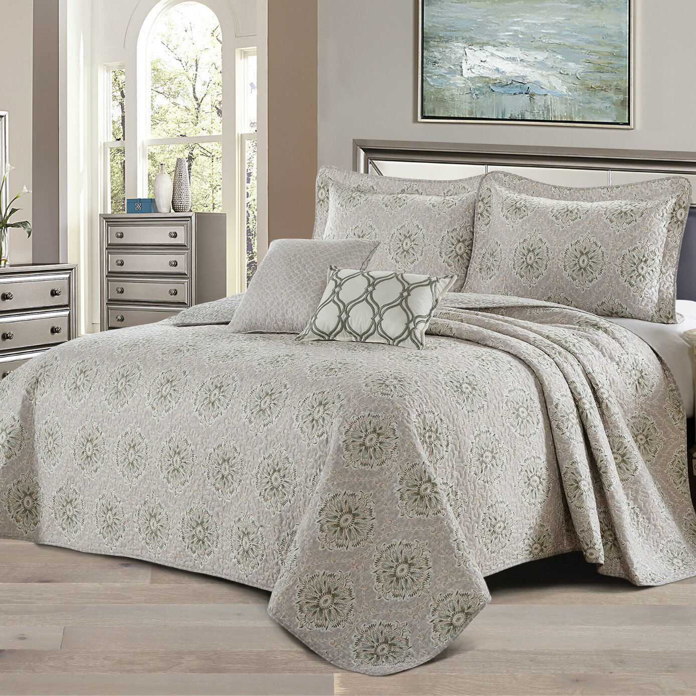 California King Geometric Quilts Coverlets Sets You Ll Love In 2021 Wayfair