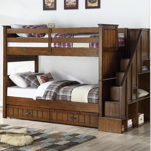 Carothers Convertible Twin Over Twin Bunk Bed with Drawers and Bookcase by Harriet Bee