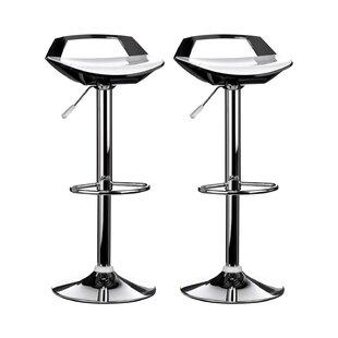 Ramos Swivel Adjustable Bar Stool (Set Of 2) By George Oliver