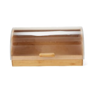 Large Capacity Bamboo Bread Box with Rolltop Plastic Cover Food Storage Bin  sc 1 st  Wayfair & Bread Boxes Youu0027ll Love | Wayfair