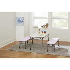 Epping Adjustable Height Kids 3 Piece Rectangular Table And Chair Set