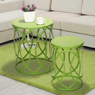 Affordable Quist 2 Piece garden Stool Set ByWrought Studio