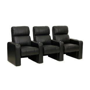 Latitude Run Contemporary Home Theater Row Seating (Row of 3)