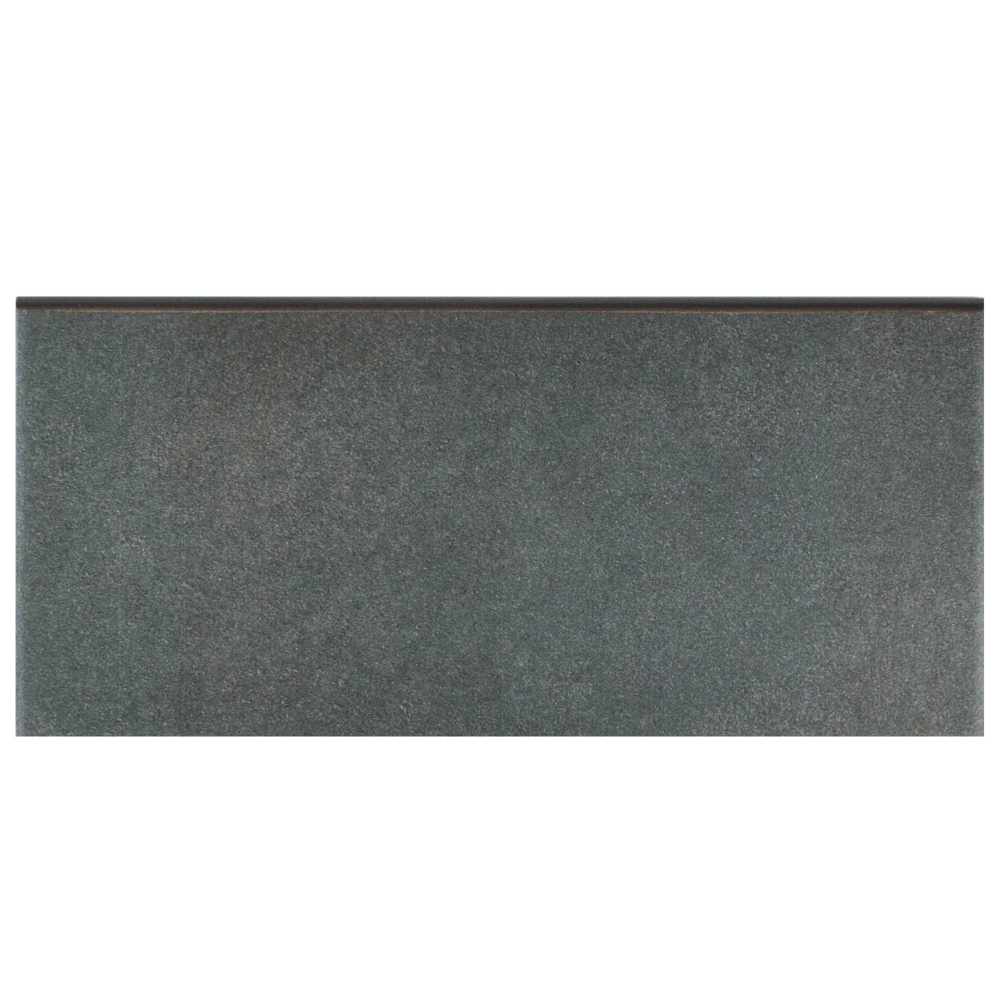 Elitetile Forties 3 5 X 7 75 Ceramic Bullnose Trim Tile In Black Wayfair