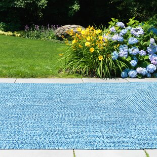 Hawkins Blue Wave Indoor/Outdoor Area Rug