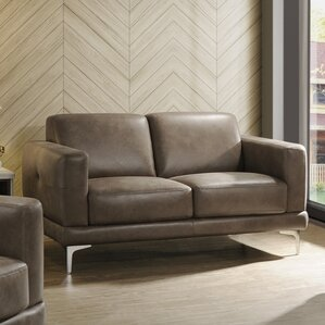 Madigan Leather Loveseat by Ivy Bronx