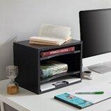 Wood Desktop 4-Tier Storage Shelves Paper Organizer