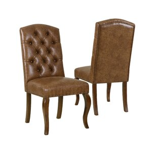 Crepeau Back Upholstered Dining Chair (Set of 2) Charlton Home