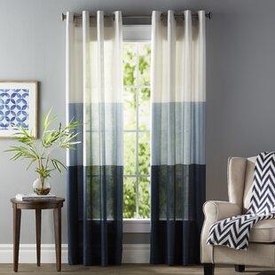 Newton Striped Room Darkening Grommet Curtain Panels (Set Of 2)