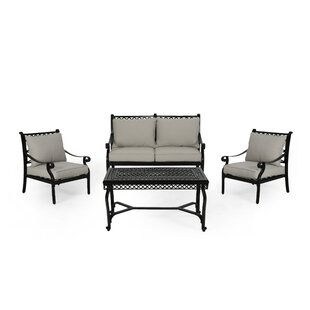 Swift 4 Piece Sofa Seating Group with Cushions