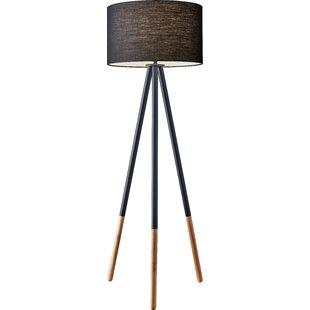 Modern wood floor lamps allmodern louise 6025 tripod floor lamp aloadofball Image collections