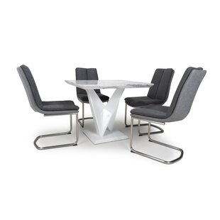 Audree Dining Set With 4 Chairs By Wade Logan