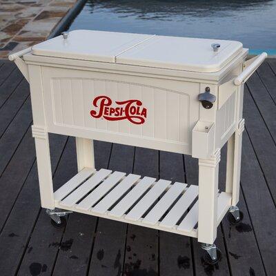 80 Qt. Pepsi Antique Patio Rolling Cooler