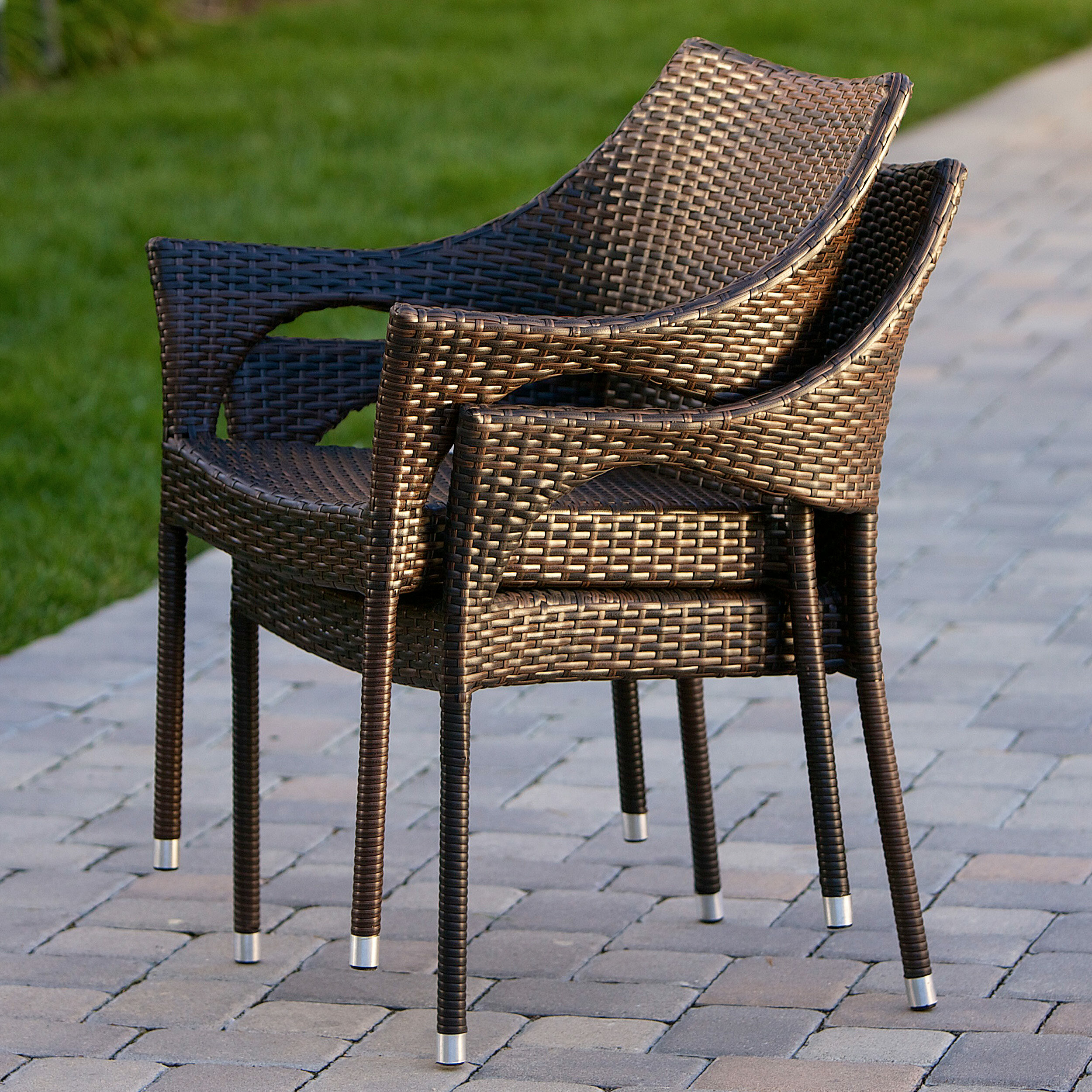 Mercury Row Danna Outdoor Wicker Patio Chair & Reviews