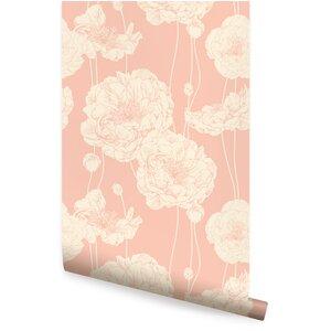 Mullen 24 W Peony Peel and Stick Wallpaper Panel