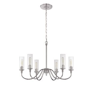 Charlton Home Eunice 6-Light Shaded Chandelier