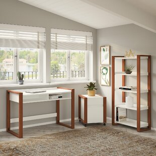 Voss Writing Desk With Bookcase And Filing Cabinet Set by Kathy Ireland Home Bush Furniture Best #1