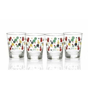 Dot 15 Oz. Double Old Fashioned Glass (Set of 4)