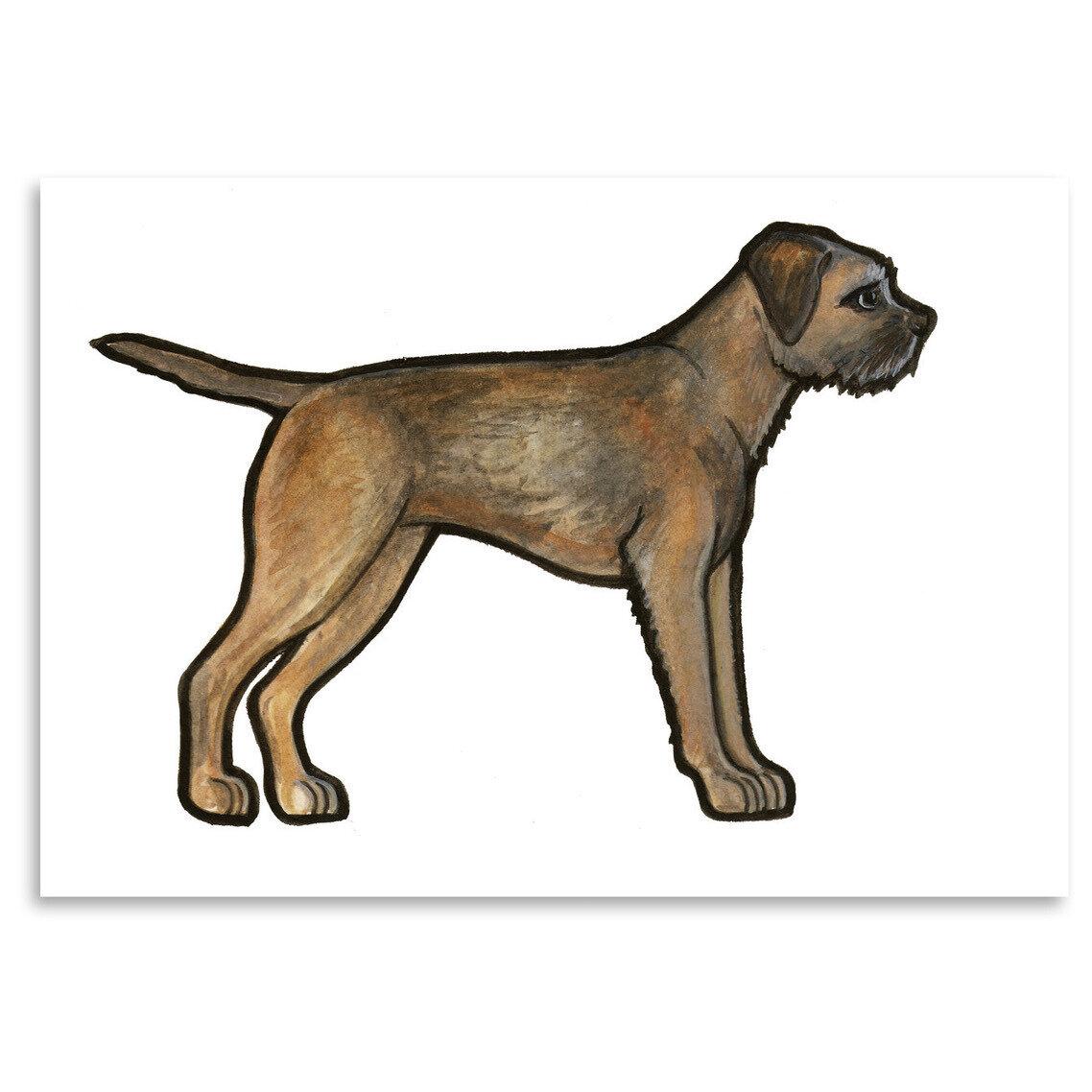 East Urban Home Border Terrier Print Of Painting Wayfair