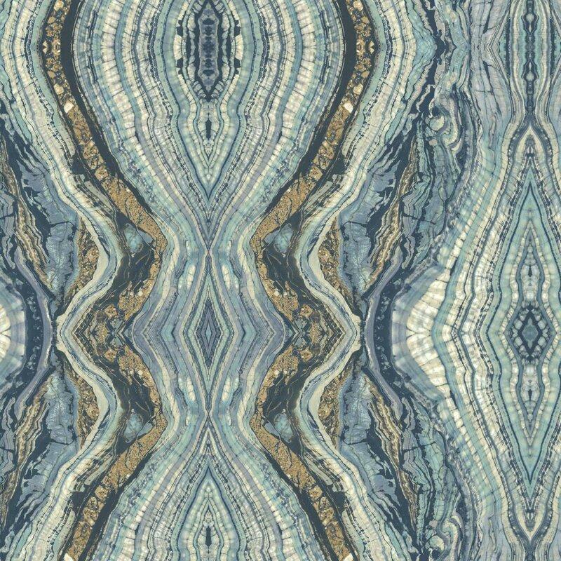 York Wallcoverings Kashmir Kaleidoscope Abstract Wallpaper