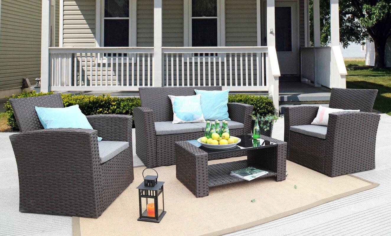 Charmain 4 Piece Sofa Set with Cushions