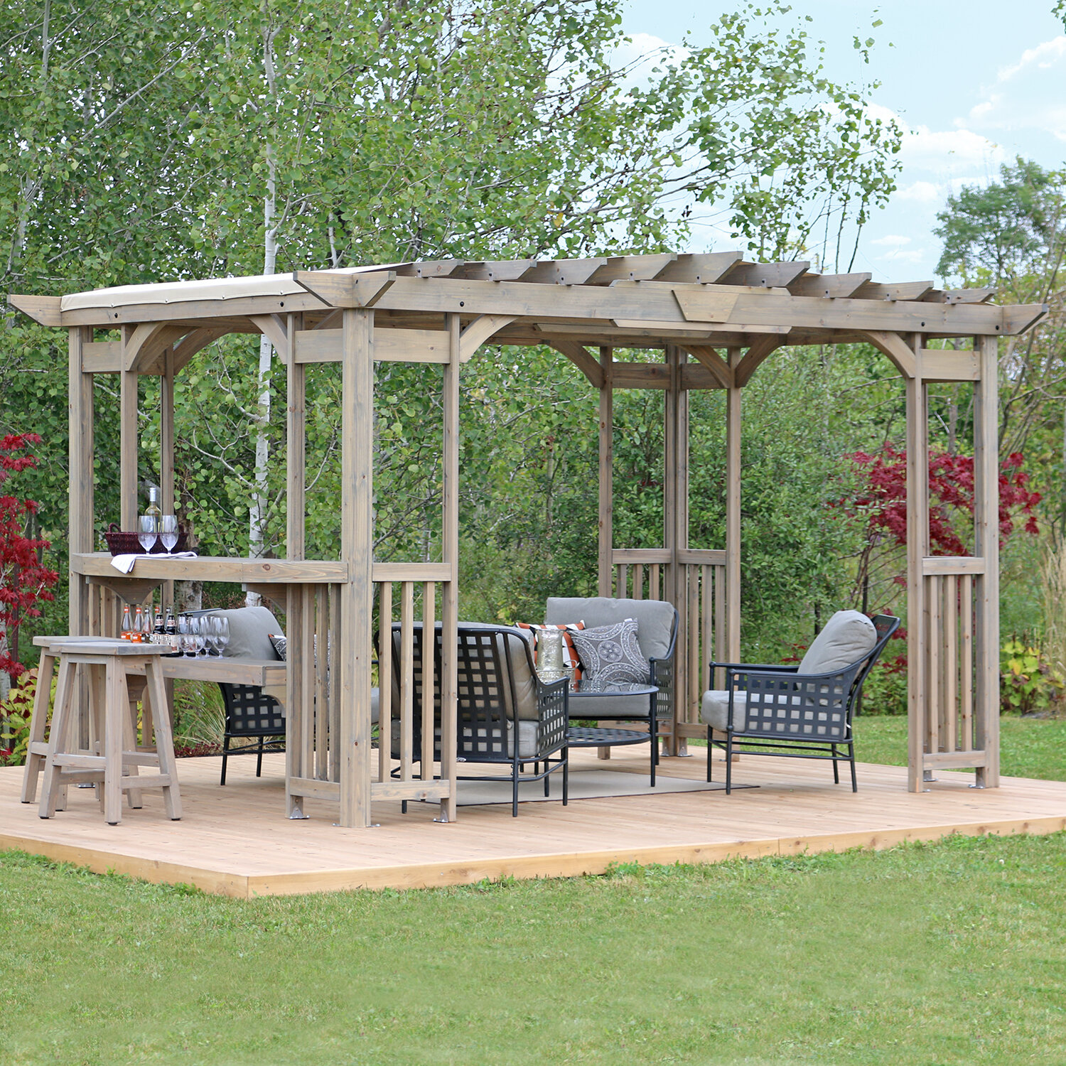 Yardistry Madison 4 Ft. W x 4 Ft. D Solid Wood Pergola & Reviews