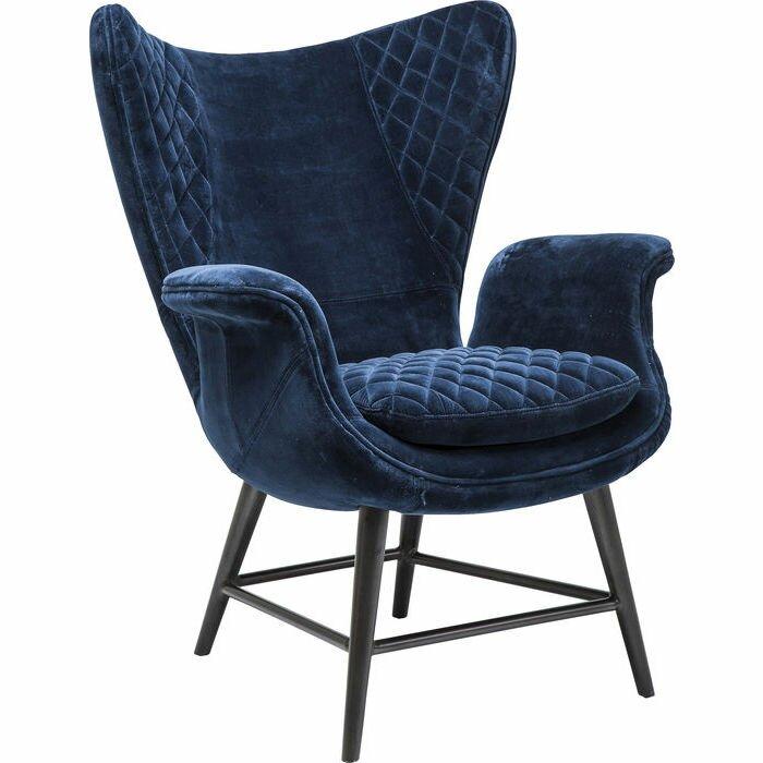 Kare Design Ohrensessel Tudor Blue Velvet Wayfairde
