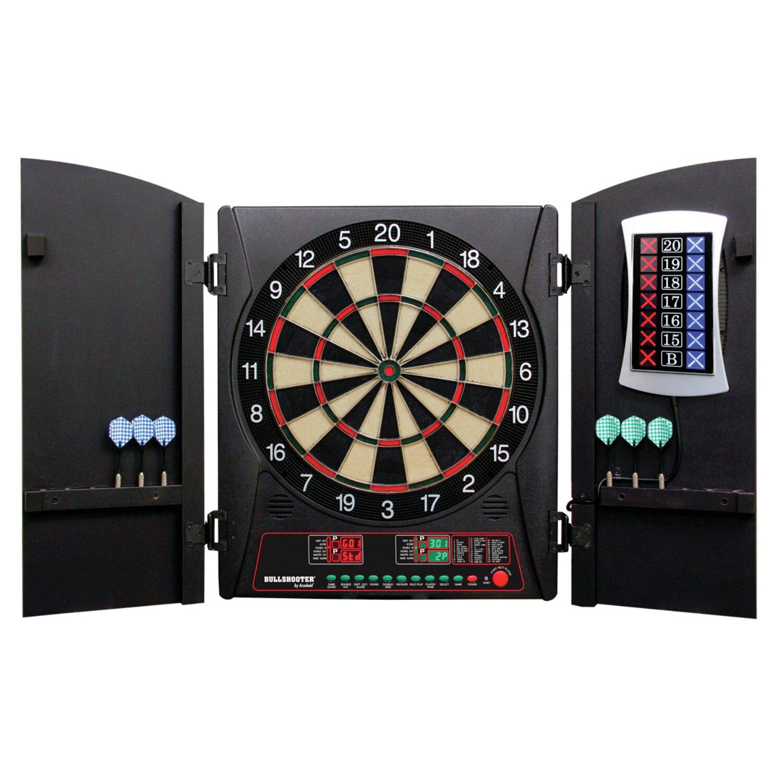 Arachnid Cricketmaxx 3 Piece 3 0 Electronic Dartboard Cabinet Set
