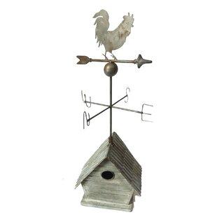 Falkville Mounted Birdhouse With Weathervane By Fleur De Lis Living
