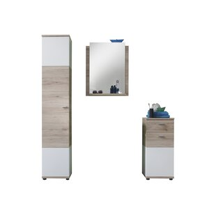 Nikolas 3 Piece Bathroom Furniture Set With Mirror By 17 Stories