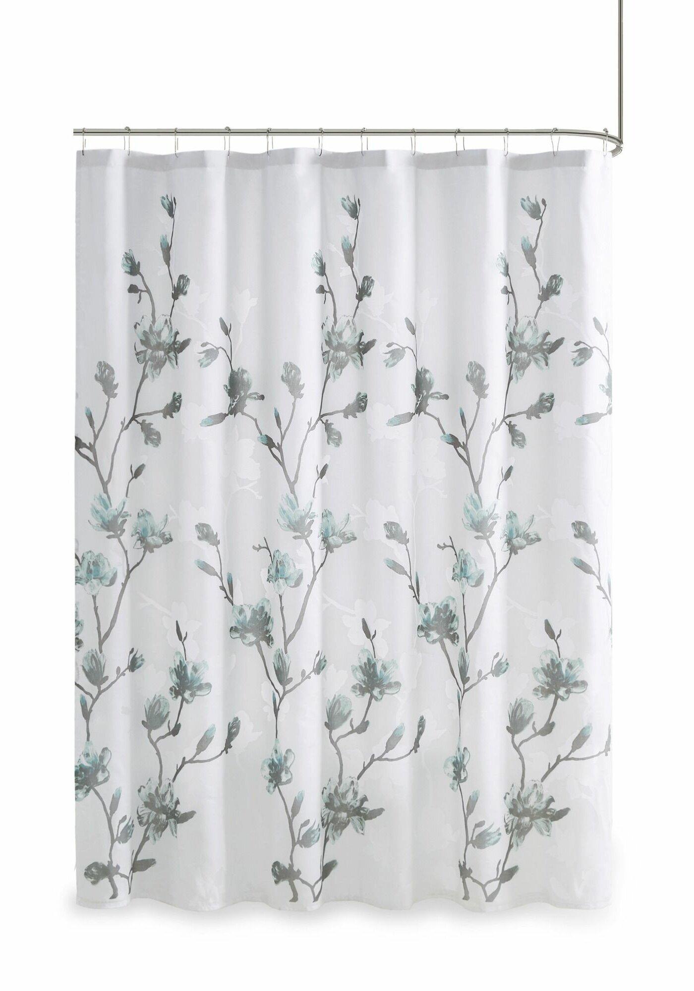 Winston Porter Reva Floral Single Shower Curtain Reviews Wayfair
