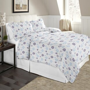 Snow Drop Flannel 100% Cotton Sheet Set