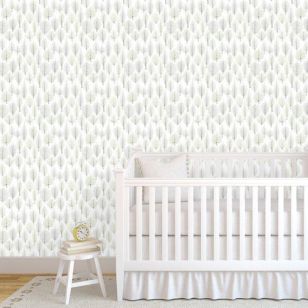 Gracie Oaks Eisenberg Tree Time 48 L X 24 W Paintable Peel And Stick Wallpaper Panel Wayfair