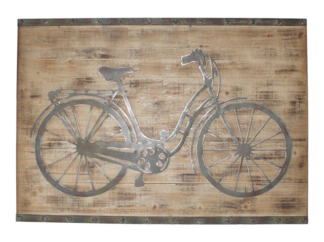 Bicycle Wall Decor cheungs bicycle wall décor & reviews | wayfair
