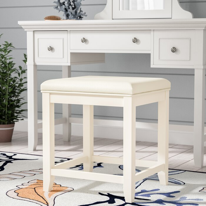 Fine Manette Vanity Stool Ncnpc Chair Design For Home Ncnpcorg