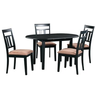Forsyth 5 Piece Extendable Solid Wood Dining Set Alcott Hill