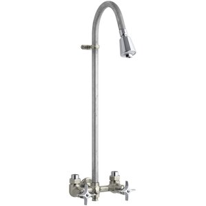 Industrial Exposed Shower With Reversible Yoke And Galvanized Riser