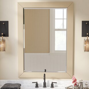 Rosecliff Heights Contemporary Solid Wood Bathroom / Vanity Mirror
