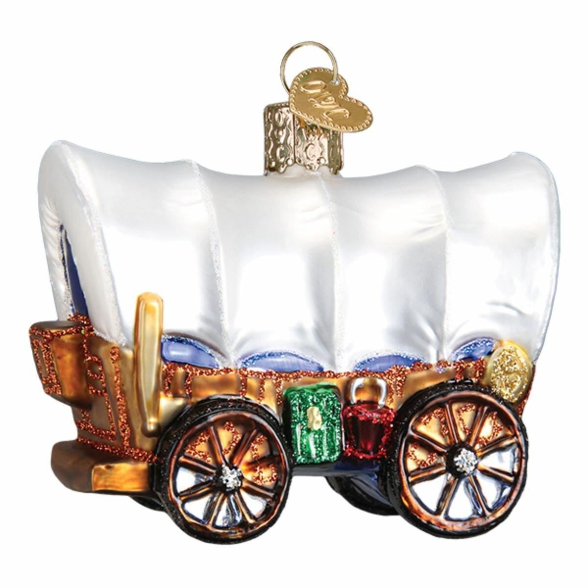 Old World Christmas Covered Wagon Hanging Figurine Ornament Wayfair