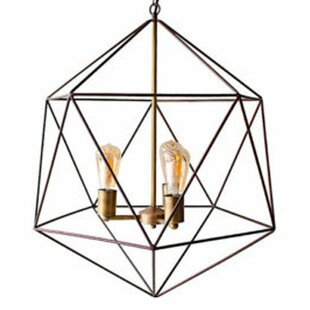 Neasa 3-Lighted Geometric Chandelier