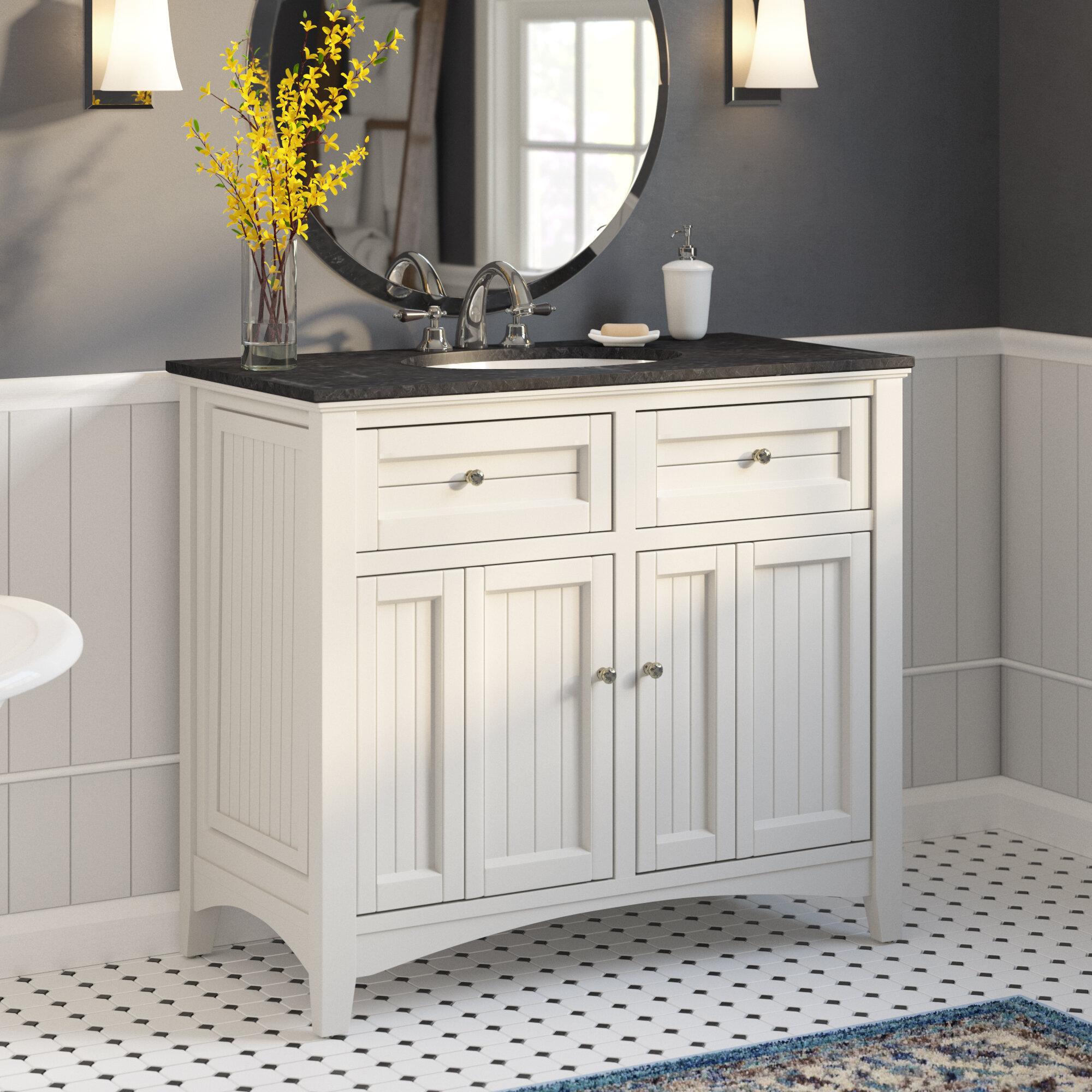 Gracie Oaks Eugene 42 Single Bathroom Vanity Set Reviews Wayfair